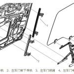关于17款新M3000驾驶室车门玻璃系统部分知识介绍